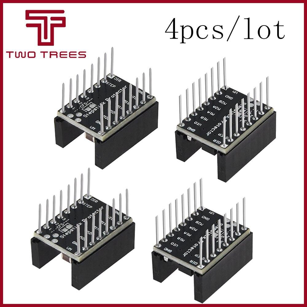4 Uds. Palo de paso silencioso Protector Motor paso a paso Drives Away grano filtro TMC2100 Jutter eliminación para TMC2100 A4988 Drv8825