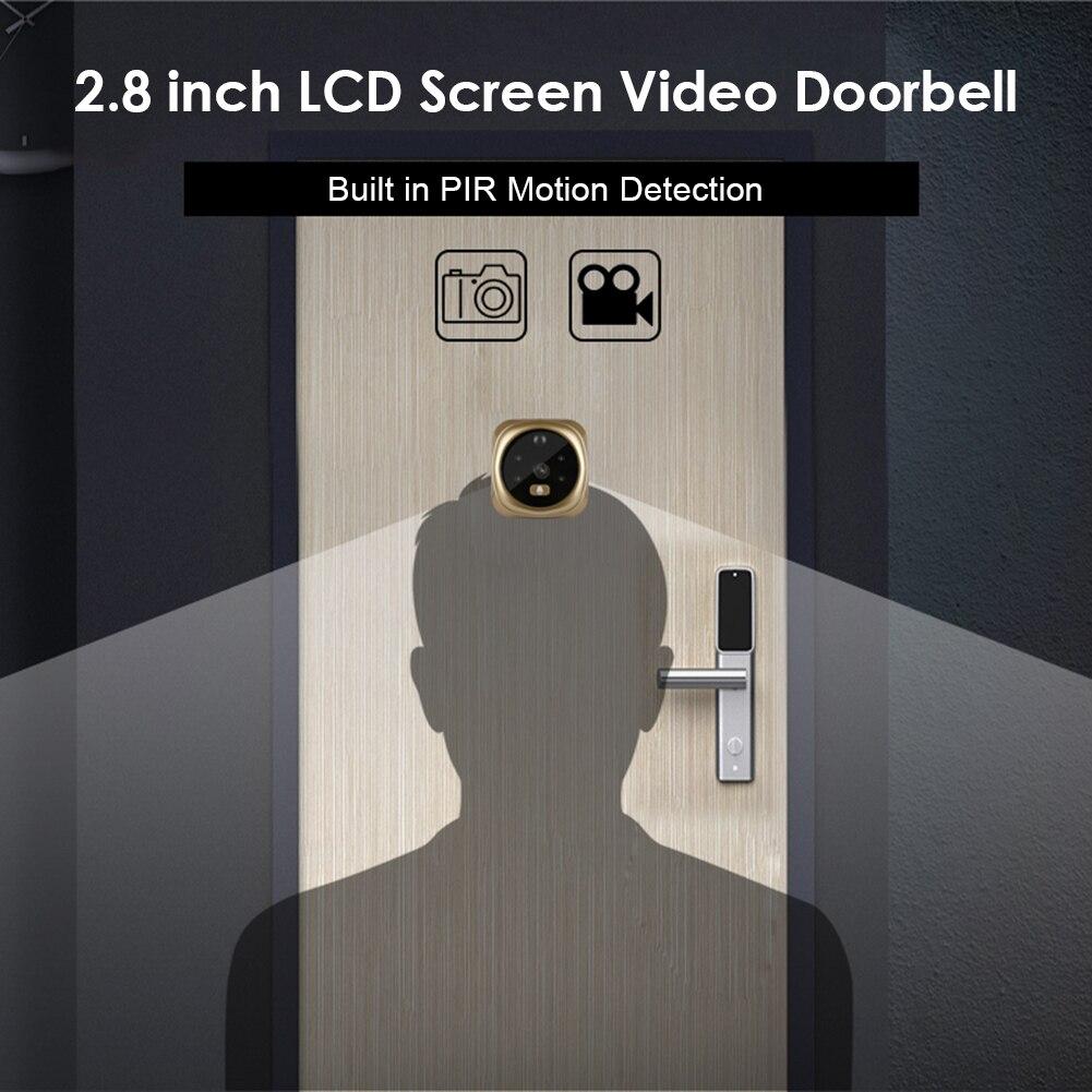 Smart IP WIFI Doorbell Video Intercom 2.8 inch LCD Screen Digital Doorbell 1MPPeepholeDoorCameraViewer Door Bell enlarge