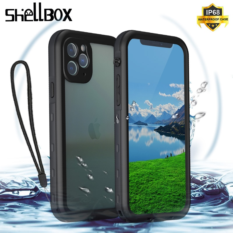 Shellbox Waterproof Case for iPhone 12 11 Pro Max XR XS MAX Swimming Case for iPhone 8 7 6S SE Plus Shockproof Silicone Cover