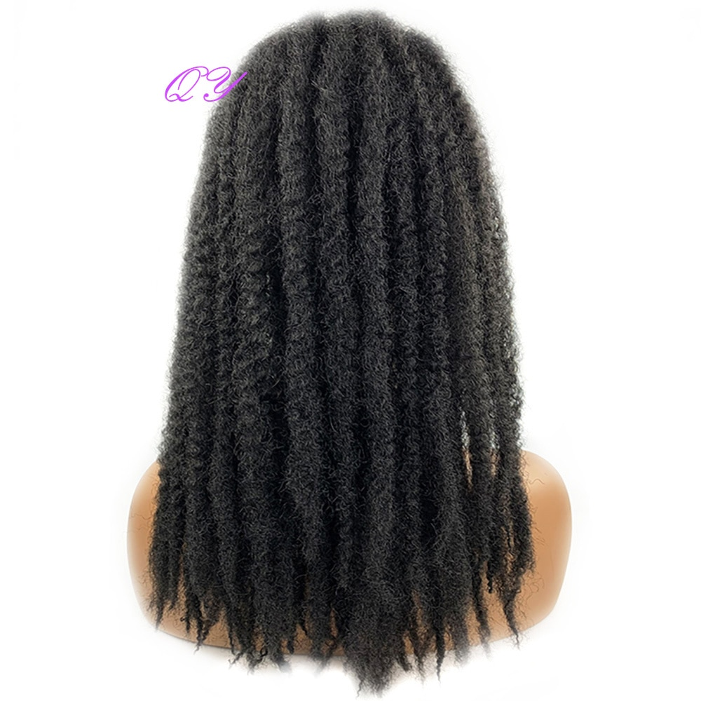 Synthetic Afro Kinky Curly Marley Braids Long Multiple Colour Drawstring Ponytail For Women Crochet Braids Hair