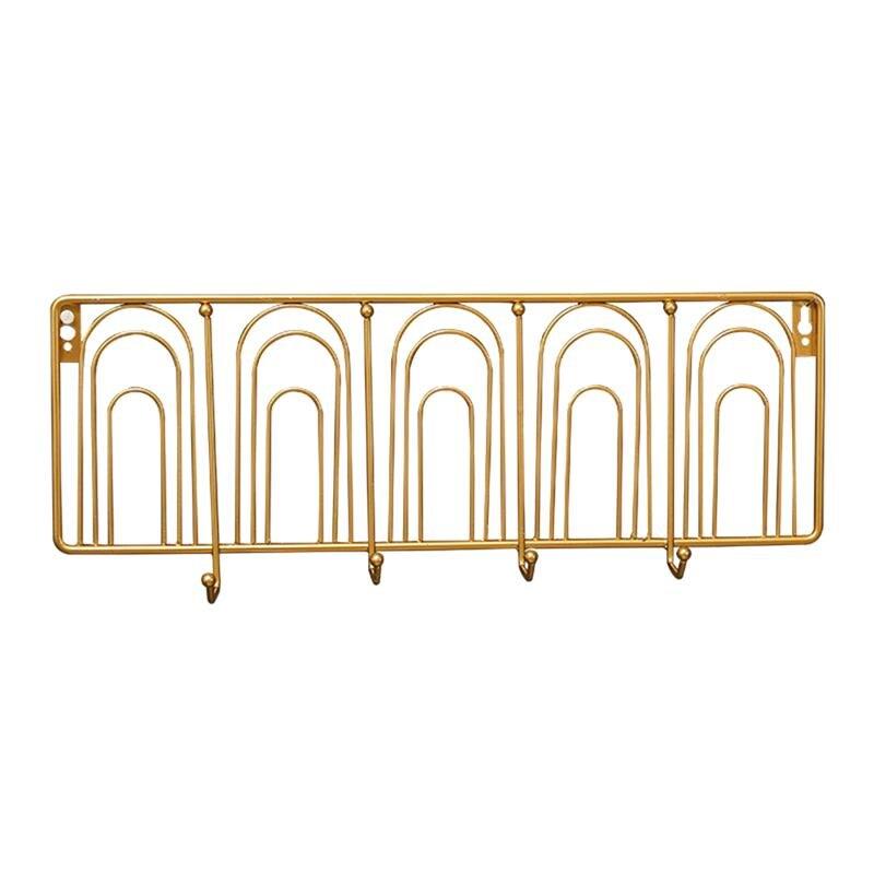 1 pieza arte del hierro ganchos de pared montado duradero colgador trasero de puerta organizador de ropa gancho colgante gancho de fila para cocina dormitorio Baño