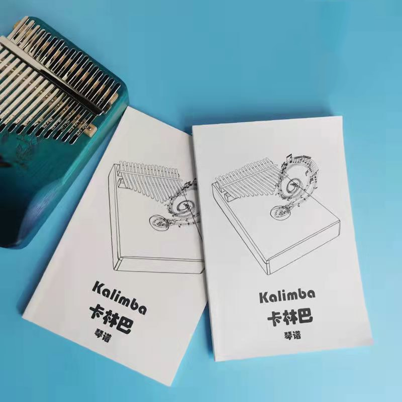 106 Portable Beginner Kalimba Score 17-tone Thumb Piano Text Number Universal Sheet Music Music Book