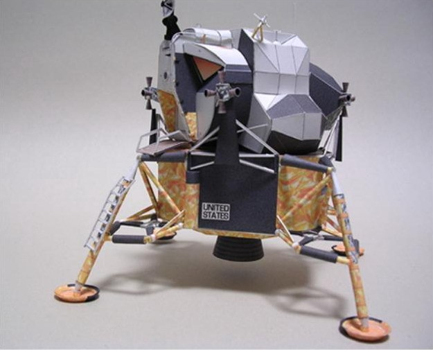 3D Paper Model Apollo 11 Lunar Module Apollo Plan Manual DIY Manual 3D Virtual Aviation Model