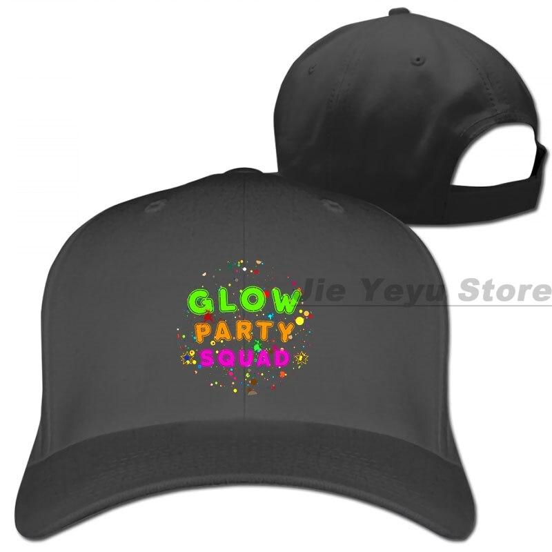 Partido resplandor escuadrón efecto pintura de neón fiesta gorra de béisbol de las mujeres de los hombres sombreros de camionero de moda gorra ajustable