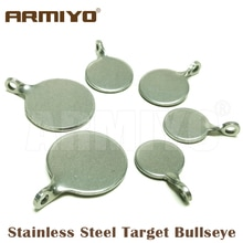 Armiyo Dia 4cm 3cm 2.5cm Stainless Steel Target  Bullseye Hunting Catapult Airsoft Shooting Paintball Archery Bow Bulls-eye Training Accessories