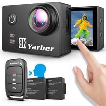 Yarber 8K caméra daction 4K 20MP Sport Action caméras vidéo WIFI Bluetooth Camara Deportiva Sport Action caméra casque vidéo Cam