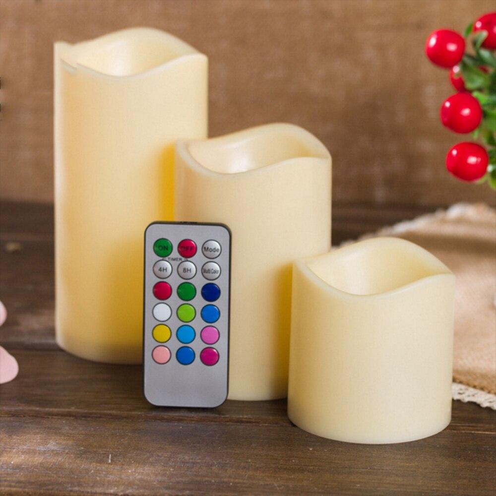 Podgrzewacze LED świece lampowe lekka kreatywna wotywna romantyczna 18 kluczowa pilot 3 rozmiar bateria najlepszy prezent bezdymny