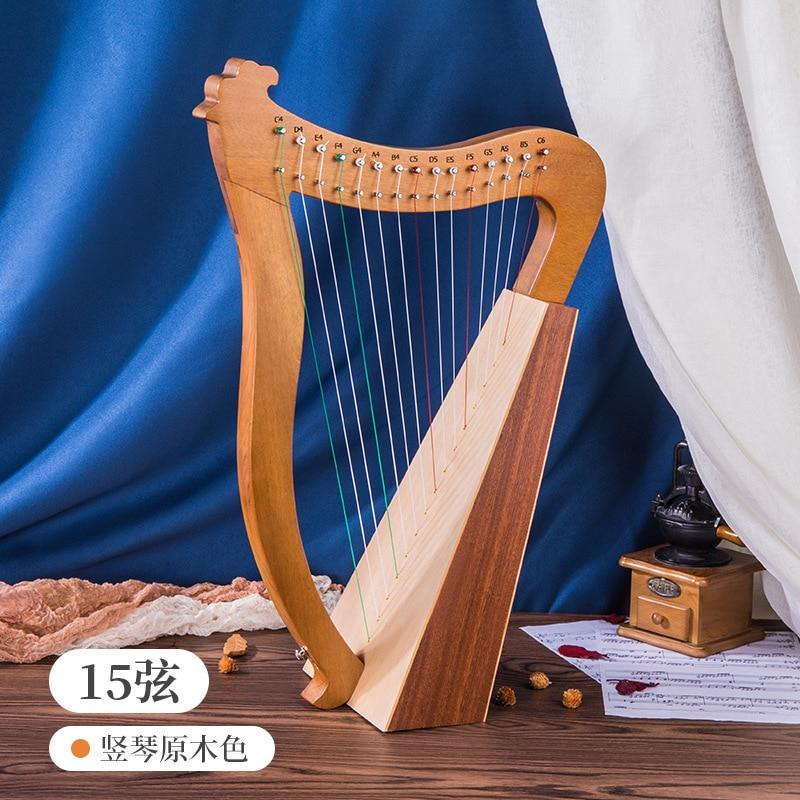 Instrument Music Harp Kit Small Lyre Harp 19 String Solid Wood Mahogany Notes Aklot Lyre Instrumentos Musical Instrument HX50SQ enlarge