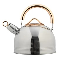 3l stainless steel heating kettle whistling teakettle anti scald boiling kettle food grade tea pot for gas induction cookers