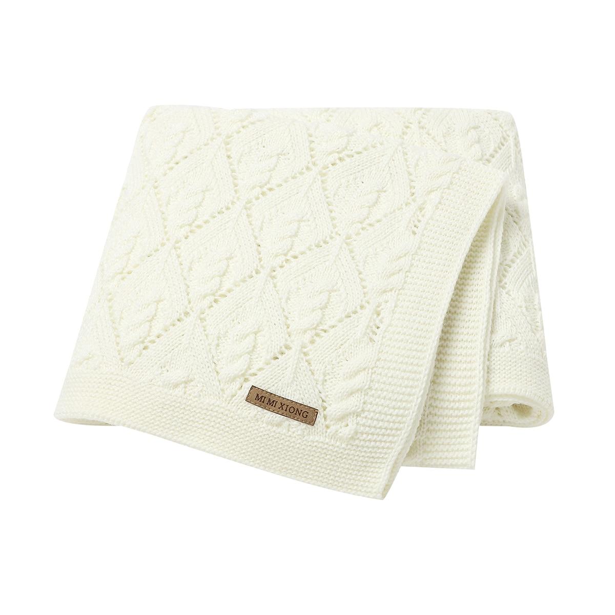 Baby Blankets Knitted Newborn Boys Girls Swaddling Wrapper Soft Infant Bebes Stroller Clip Quilts 100*80cm Toddler Throw Blanket