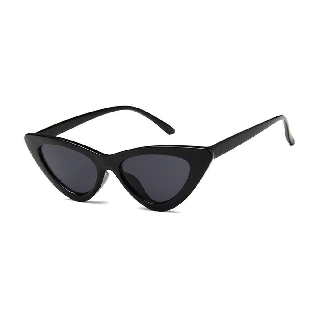 Triangle Vintage Cheap Cute Sexy Retro Cat Eye Sunglasses Women Small Black White Sun Glasses Red Fe