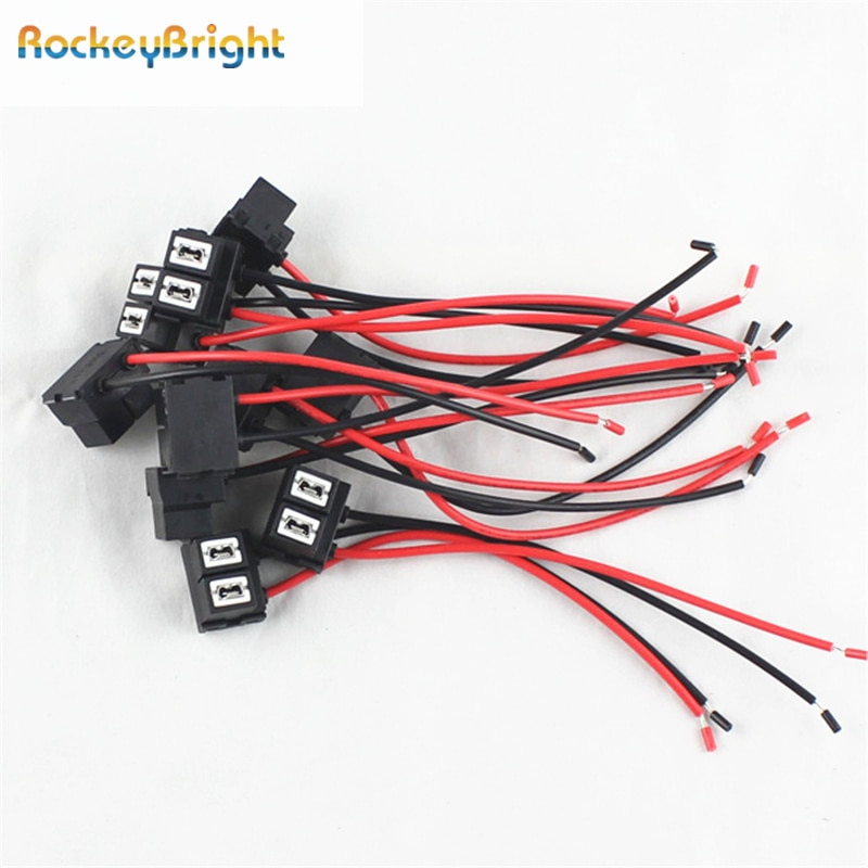 Rockeybright h7 stecker keramik buchse adapter h7 led-lampe auto draht extention kabel h7 lampe stecker