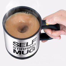 400ml Automatic Self Stirring Mug Coffee MilkStainless Steel Mug tea Cup with Lid Automatic Electric Lazy Milk Mixing auto stirring mug Smart Cup