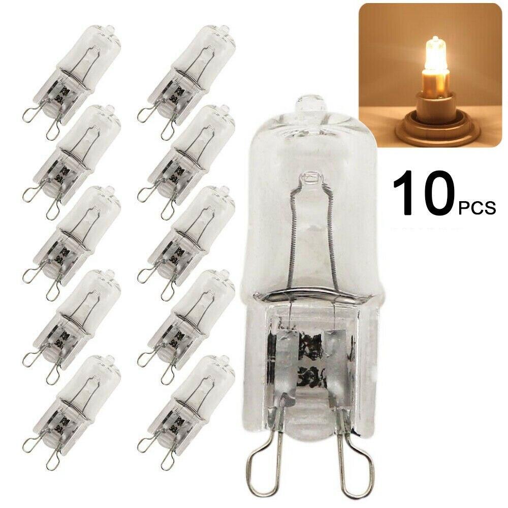 10 шт. светильник ing лампы высокой Яркость Замена 230V 40W G9 галогенные Светильник лампы капсулы светодиодный светильник теплый белый