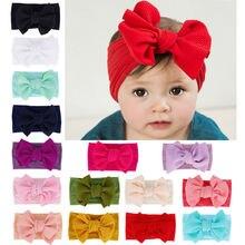 Accesorios para bebés, cinta para el pelo elástica de nailon para bebés, Diadema con lazo suave, sombrero sólido para recién nacidos, accesorios para regalos