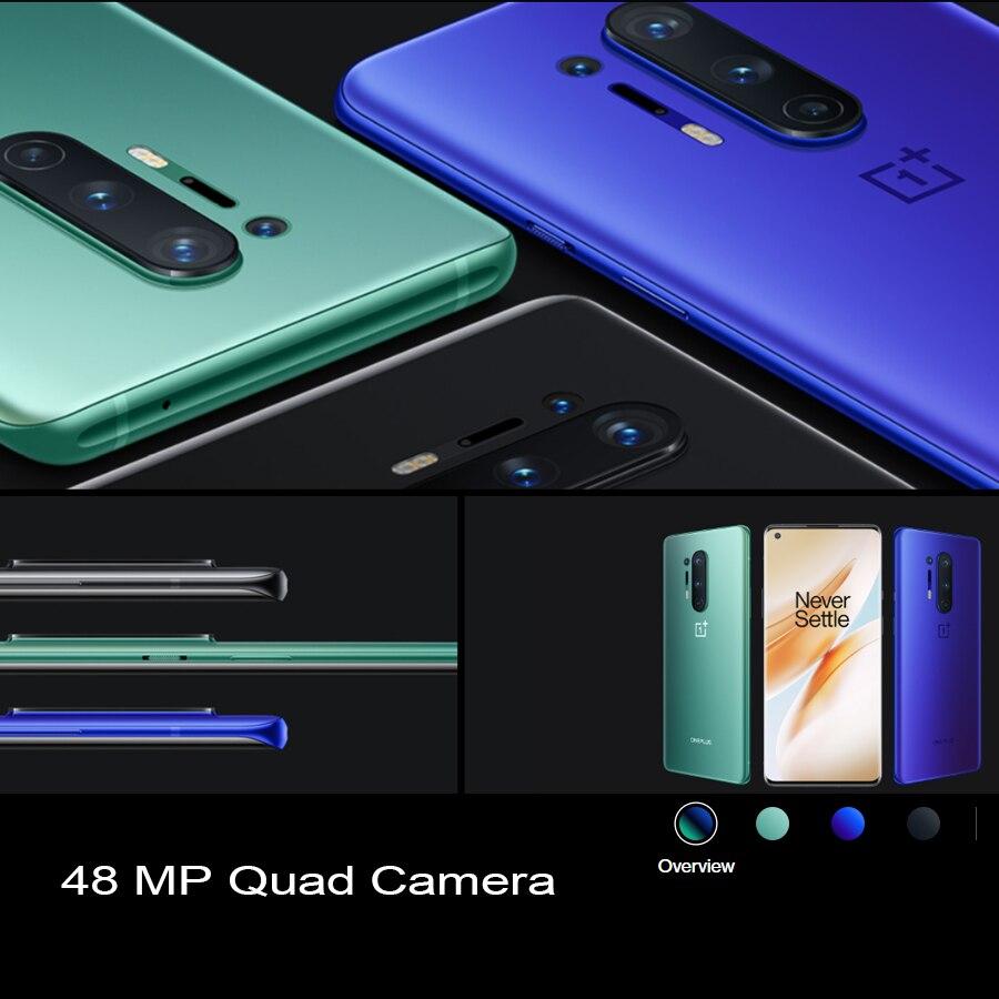 Фото1 - Глобальный Встроенная память Oneplus 8 pro 8pro 5G мобильный телефон 6,78 дюйм. 8/12 Гб 128/256 ГБ Snapdragon 865 четыре задние Камера 48MP 8MP 48MP 5MP чехол для телефона
