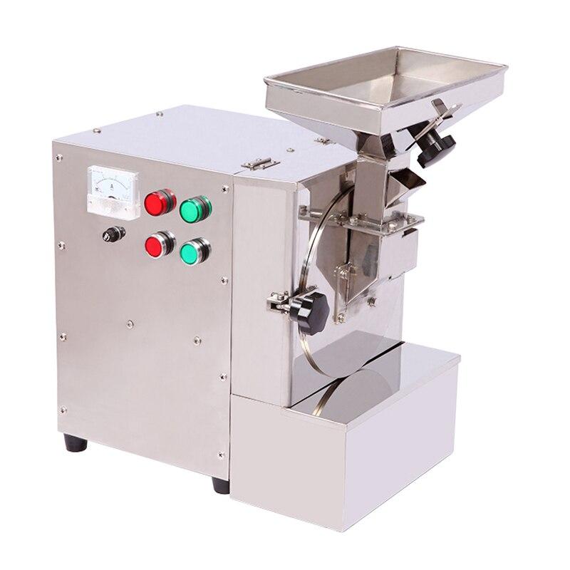 XL-910 الشحوم الغذاء كسارة 10-40 كجم/ساعة التجارية السمسم الفول السوداني اللوز الفولاذ المقاوم للصدأ ماكينة الطحن 220 فولت