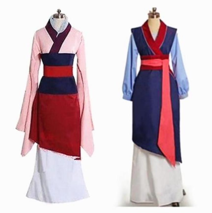 Ральф 2 Хуа платье Мулан синий/красное платье принцессы Пижама для детей и взрослых, Косплэй карнавальный костюм на Хэллоуин, костюм для выс...