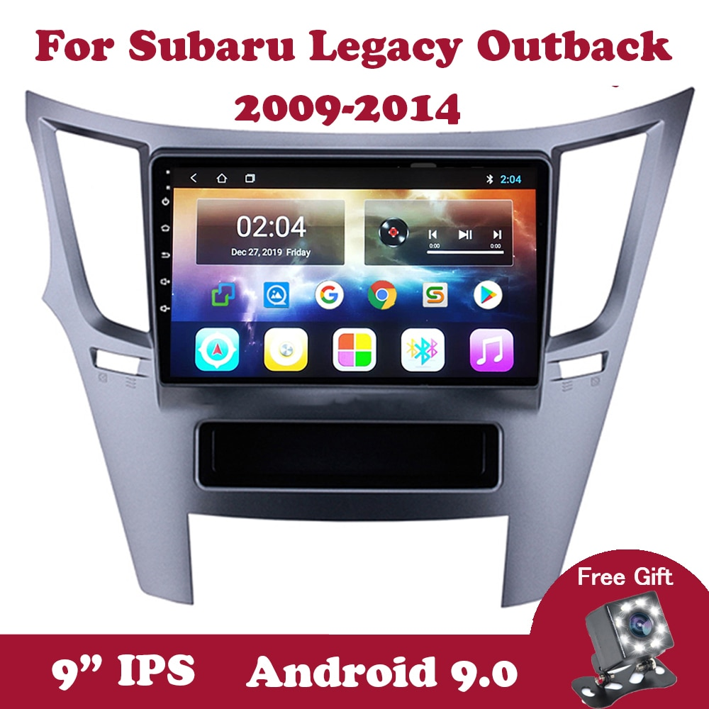 "Android 9,0 Autoradio Multimedia Player Für Subaru Legacy Outback 2009 2010-2014 GPS Navigation DVD Auto Radio 2Din 9 ""IPS Bildschirm"