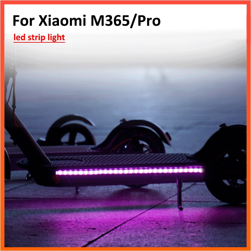 Tira de luz LED linterna barra lámpara para Xiaomi M365 Ninebot Scooter Eléctrico luz larga Flash modelo