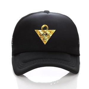 Game anime Yu-Gi-Oh hat Curved Caps women men Summer Mesh hat Snapback Mesh Cap Outdoor Sport Trucker hat