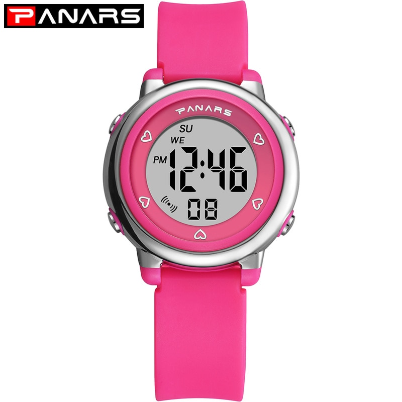 PANARS Children Boys Girls Student Wrist Watch Waterproof  LED Digital Kids Watches Fashion Sport Gift Alarm Male Clock