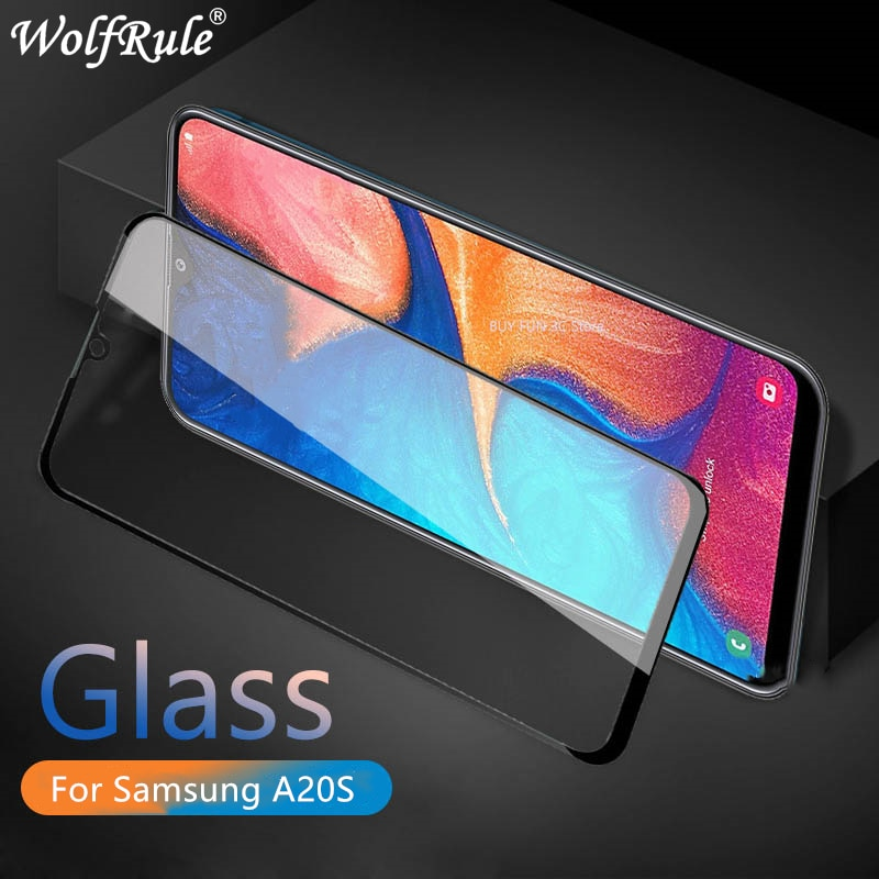 2PCS For Samsung Galaxy A20S Glass 9H Full Glue Tempered Glass Screen Protector For Samsung Galaxy A20S Glass For Samsung A20S