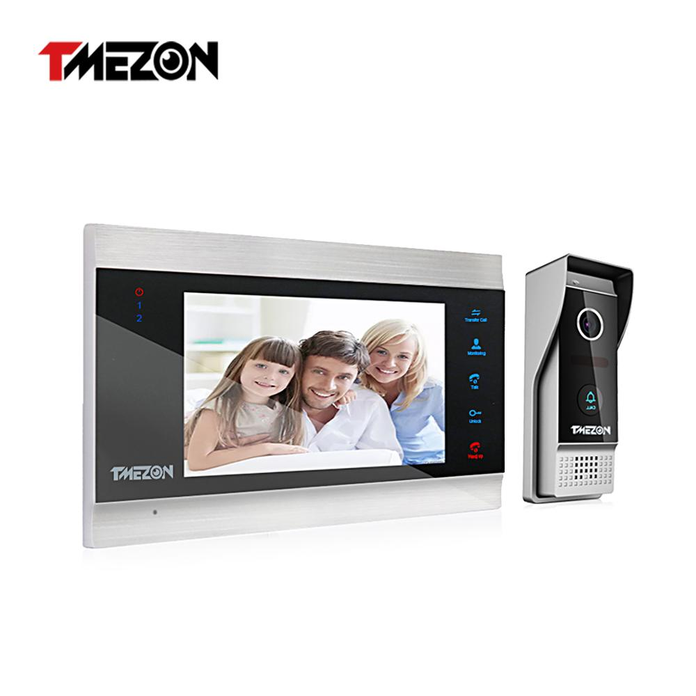 30% OFF TMEZON 7 Inch TFT Wired Video Intercom System with 1x 1200TVL   Camera,Support Recording / Snapshot Doorbell