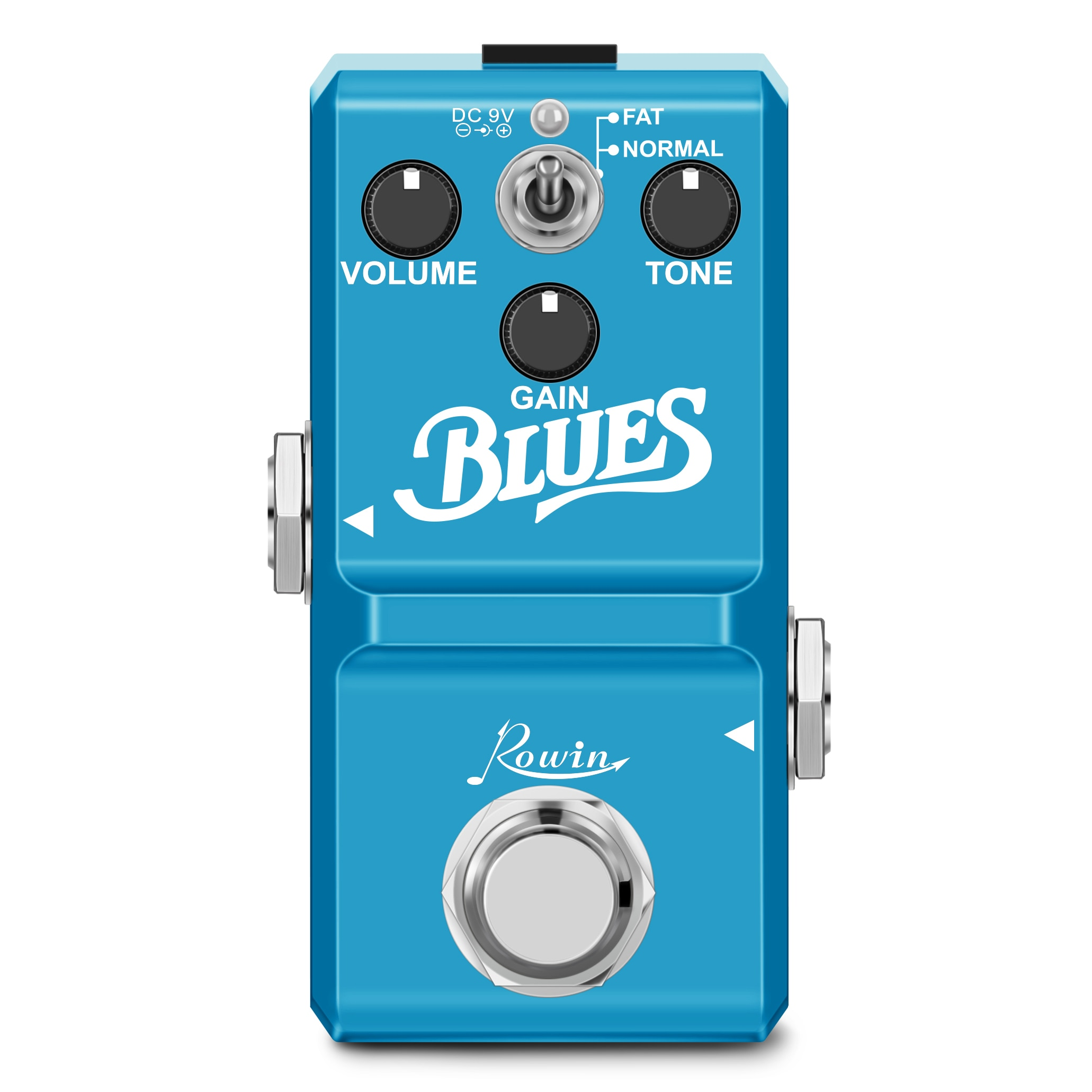 Rowin Guitar Pedals Blues LN-321 for Full Mental Shell Electric Guitar and Bass Effect Pedal