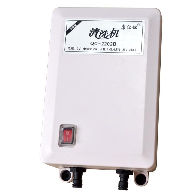 Self-priming high pressure cleaning machine 80PSI DC 12V car household portable washing machine DIY car washer 4L/min pump