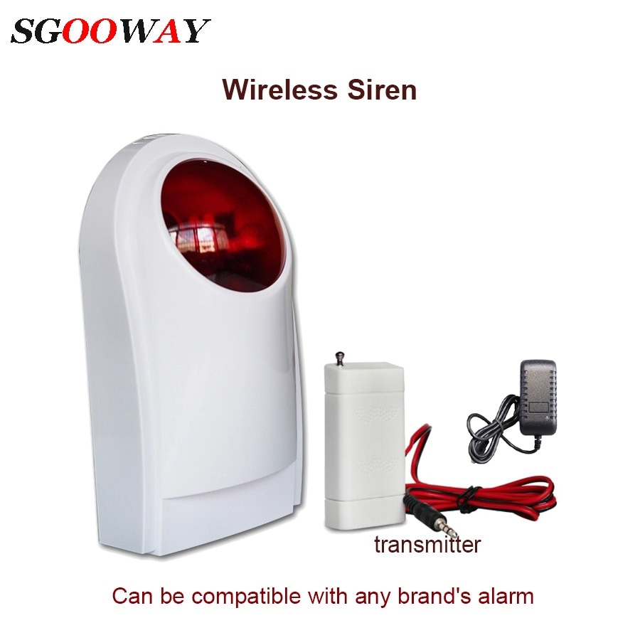 120db Wireless outdoor sound and light flashing siren for alarm system tuya 433mhz