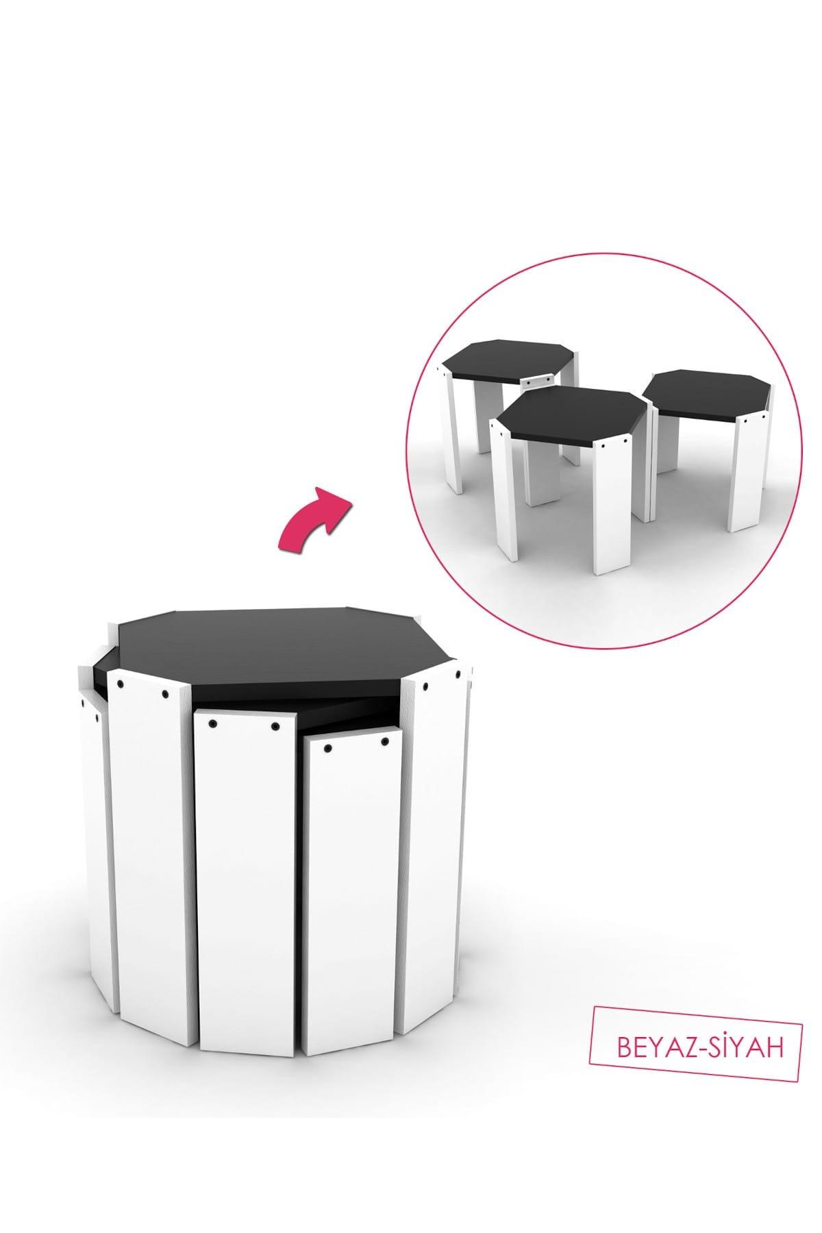 Журнальный столик Hansel Zigon (белый-черный), разные журнальные столики