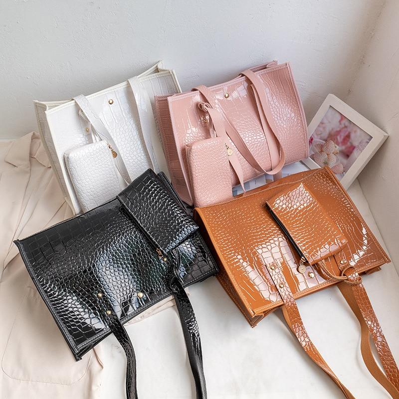 AELPL  bolsa de mão couro de crocodilo feminina, bolsa crossbody ombro para mulheres 2021 bolsas de mão de alta qualidade femini недорого