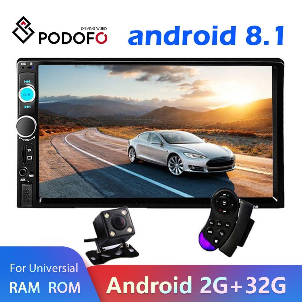 "Podofo 2 din Android 8,1 Auto-Multimedia-Player radio Stereo 7 ""Video MP5 Player GPS Bluetooth Für Volkswagen Nissan hyundai Kia"