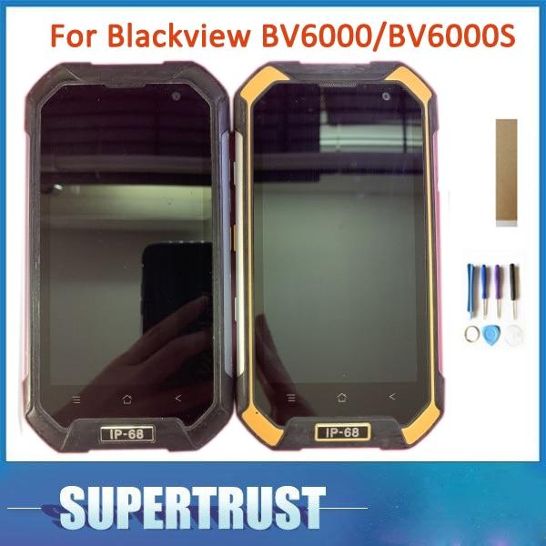 Черный зеленый желтый с рамкой оригинальный для Blackview BV6000 BV6000S ЖК-дисплей сенсорный экран Сенсорное стекло дигитайзер сборка