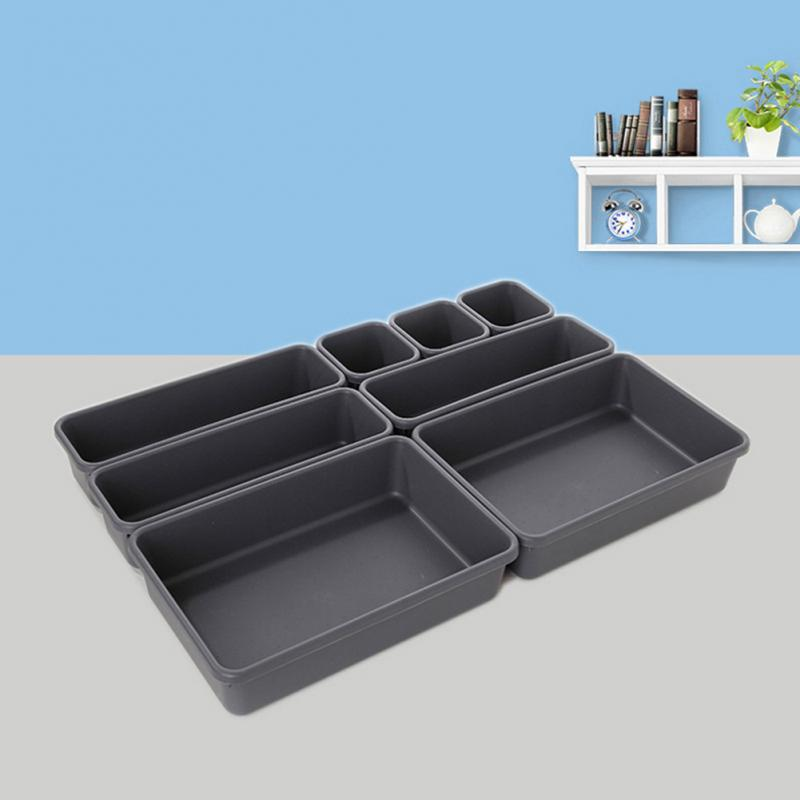 Hot!!! 8 Pack Drawer Draw Insert Organisers Storage Solution Tidy Neat For Bathroom Office Supplies