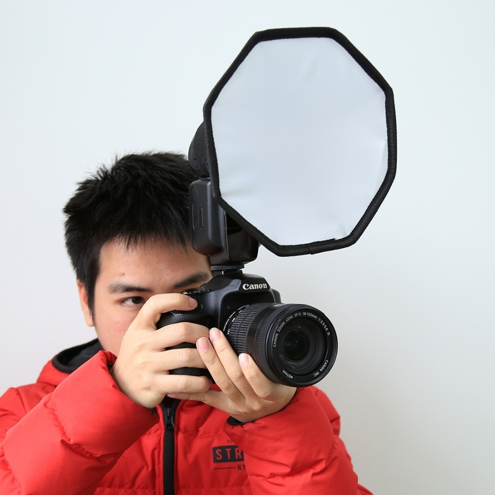 Рассеиватель для вспышки PULUZ, студийный софтбокс 20 см, складной софтбокс для вспышки, рассеиватель света для камеры, софтбокс для фотостудии...