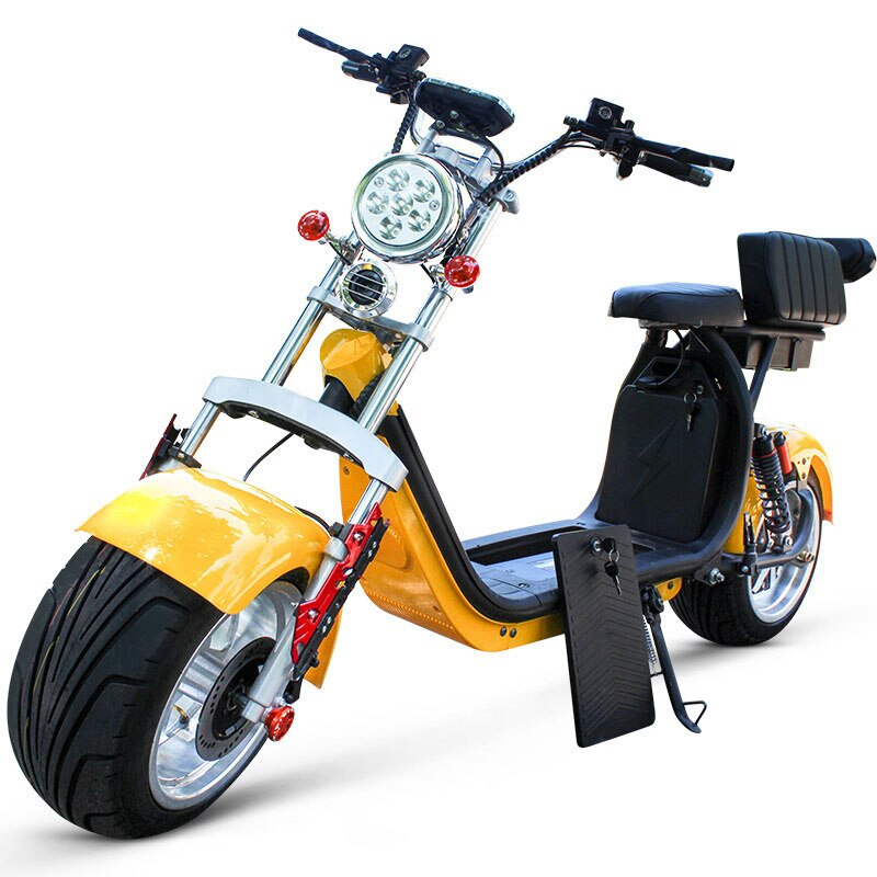 1500 واط Citycoco 60 فولت قابلة للإزالة بطارية ليثيوم اطار كبير دراجة كهربائية الذكور والإناث الكبار سكوتر رائع
