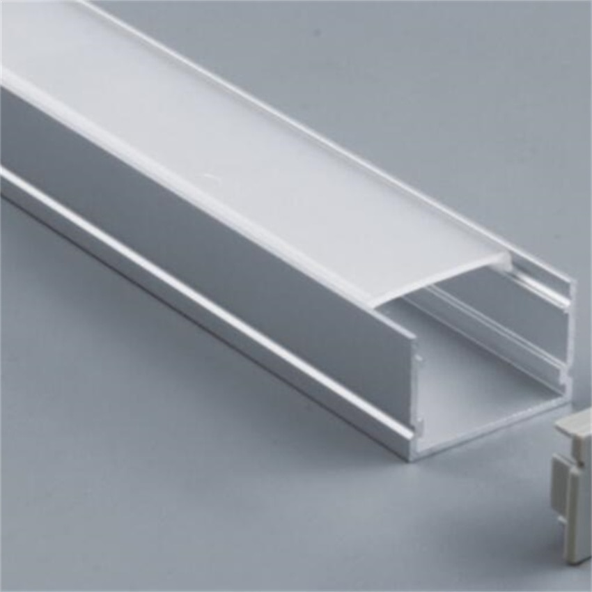 Free Shipping 1m/pcs  15m/lot  aluminium profile with cover and end caps  , mounting clips  for led strips  heat sink shape enlarge