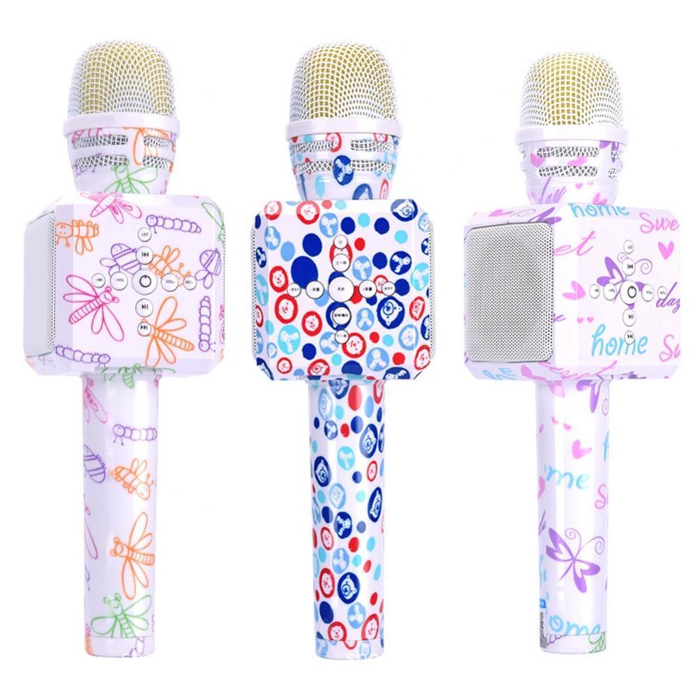 Micrófono Condensador Profesional para Karaoke, dispositivo de mano inalámbrico, Bluetooth, oso de dibujos animados, mariposa