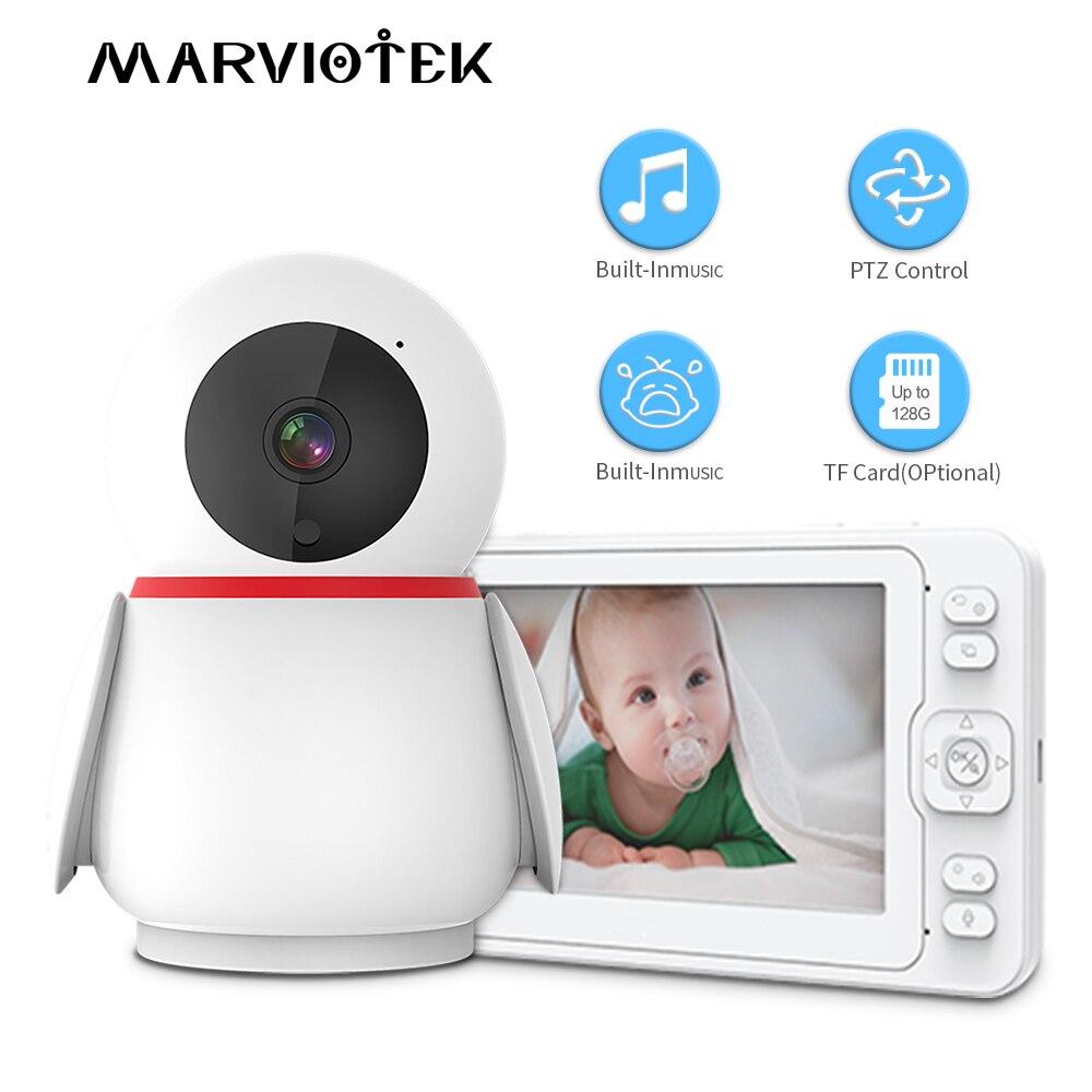مراقبة الطفل مسجل كاميرا مراقبة صغيرة لاسلكية 360 2MP فيديو مراقبة DVR صرخة إنذار كاميرا مراقبة الطفل الإلكترونية