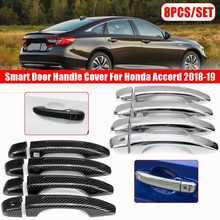 8 unids/set cubierta inteligente de la manija de la puerta Exterior del coche ABS para Honda para Accord 2018 2019 accesorios para el coche
