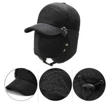 Winter Bomber Hat Fashion Ear Protection Face Windproof Ski Cap Unisex Thickened Cold-proof Outdoor