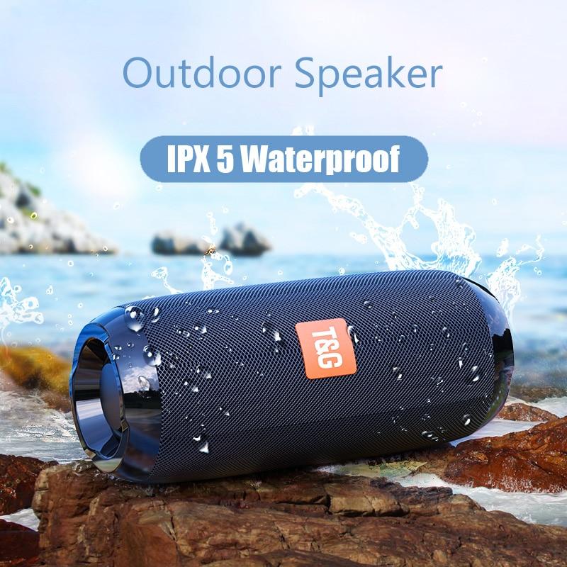 Altavoz Hifi TG117 con Bluetooth, columna de altavoz inalámbrica resistente al agua, barra de sonido hifi con sonido envolvente, Subwoofer con soporte para usb, aux, radio fm