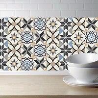 Style marocain bricolage mosaique carreaux muraux autocollants taille ligne autocollant mural cuisine adhesif salle de bain toilette etanche PVC fonds decran