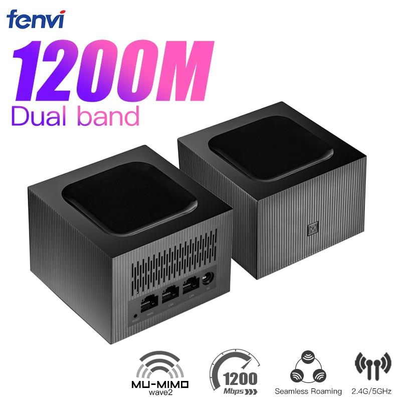 Fenvi AC1200 شبكة المنزل كله اللاسلكية واي فاي نظام 2.4G/5.0GHz واي فاي راوتر لاسلكي عالية السرعة اللاسلكية جسر مكرر PK MW6