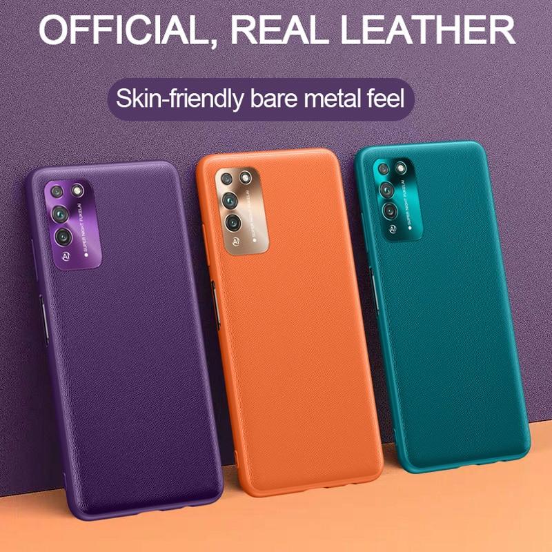 Pour Huawei Honor X10 20 30S V30 Pro étui pour Huawei Nova 6 7 SE Pro étui nouveau luxe en cuir métal lentille de protection couverture souple