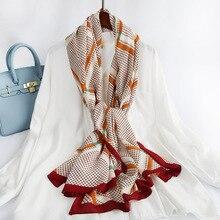 Hot 2020 Spain Brand Geometric Striped Tassel Viscose Shawl Scarf Women High Quality Print Pashmina