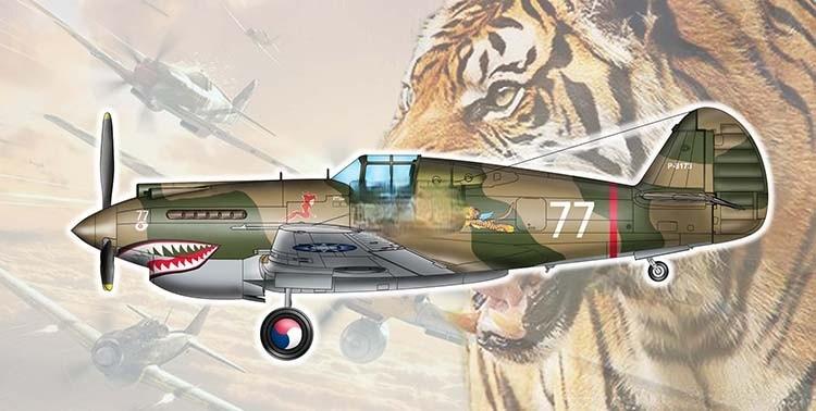 طائرة عسكرية من Trumpeter موديل بمقياس 1:48 هاوكر P-40 على شكل نمر طائر 81A-2 طائرات قتالية طراز 1941 05807