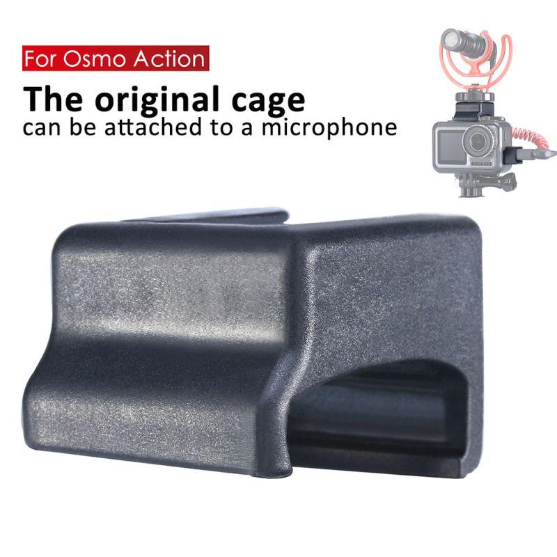 Para DJI OSMO acción adaptador de micrófono de vídeo estabilizador de raíz fría montaje de accesorios de cámara de acción